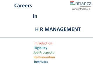 Careers In H R MANAGEMENT