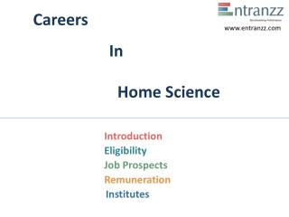 Careers In Home Science