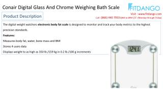 Conair Digital Glass And Chrome Weighing Bath Scale
