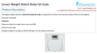 Conair Weight Watch Body Fat Scale