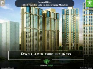 Runwal Bliss - 4 BHK Flats for Sale in Kanjurmarg Mumbai