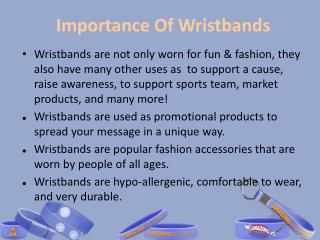 Importance of Wristbands in Various Places
