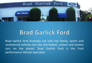 Brad Garlick Ford - Ford Dealer Sydney