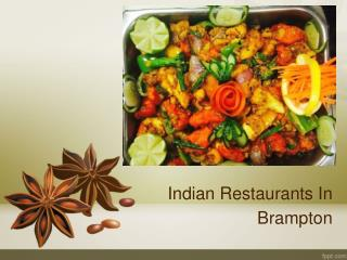 Best Indian Restaurant Brampton