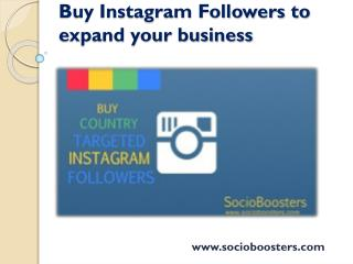 Buy Instagram Followers to expand your business