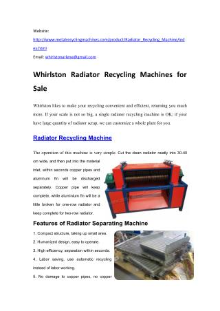 Whirlston Radiator Recycling  Machines.pdf