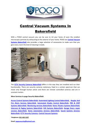 Central Vacuum Systems In Bakersfield