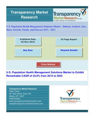 Cloud-based U.S.  Population Health Management Systems Segment to Drive Market's Growth