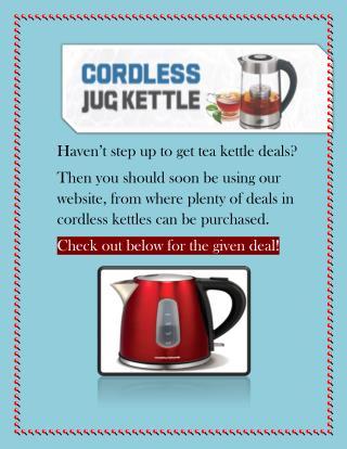 Andrew James Cordless Jug Kettles: Best Branded Deals