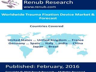 Worldwide Trauma Fixation Device Market & Forecast