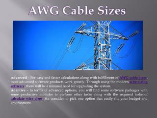 AWG cable sizes