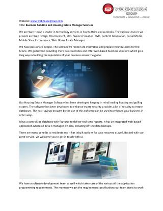 Web House Group - Software Development & Business Solution Company