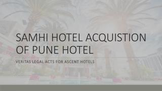 Samhi hotel acquisition on Pune Hyatt hotel