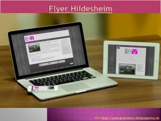 Flyer Hildesheim - Greenstein Designagentur