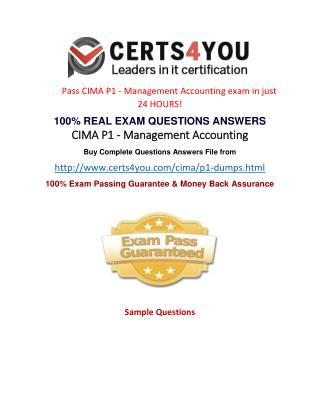 Where can i get the latest exam questions of Cima P1?