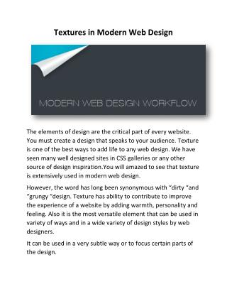 Textures in Modern Web Design