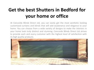 Get the best Shutters in Bedford for your home or office