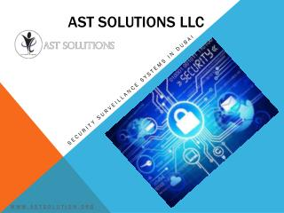 Security Companies in Dubai - AST Solutions