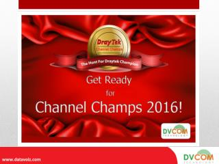 Be a Part of DrayTek Channel Champ Event & Win Exciting Prizes