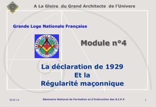 La declaration de 1929