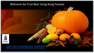 Sale on Fruit Cider Hong Kong | British Overseas Export
