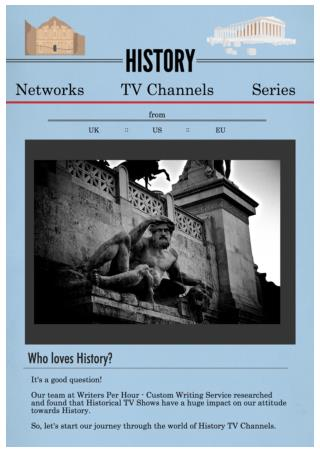 History Channels, Series, TV Shows by Writers Per Hour