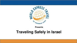 Traveling Safely in Israel