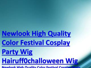 Newlook High Quality Color Festival Cosplay Party Wig Hairuff0challoween Wig