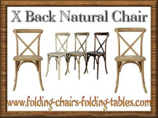 X Back Natural Chair