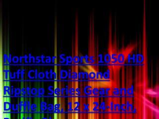 Northstar Sports 1050 HD Tuff Cloth Diamond Ripstop Series Gear and Duffle Bag, 12 x 24-Inch, Pacific Blue