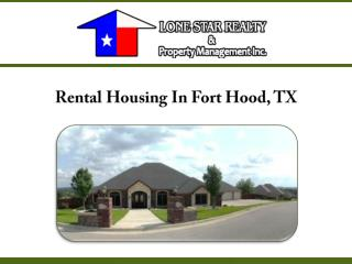 Rental Housing In Fort Hood, TX