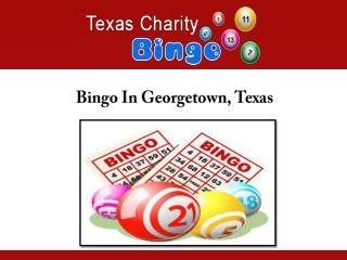 Bingo In Georgetown, Texas