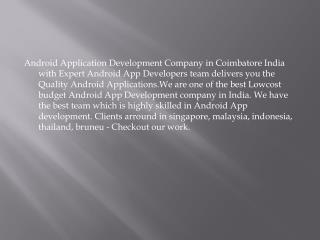 Android app developer in Singapore