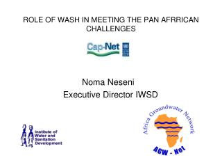 ROLE OF WASH IN MEETING THE PAN AFRRICAN CHALLENGES