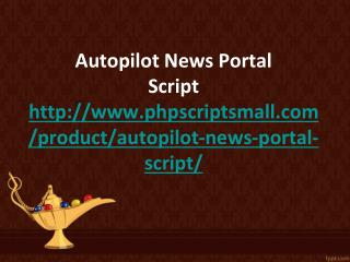 Autopilot News Portal Script