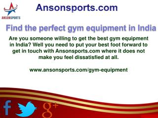 Find the perfect gym equipment in India