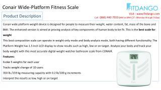 Conair Wide-Platform Fitness Scale