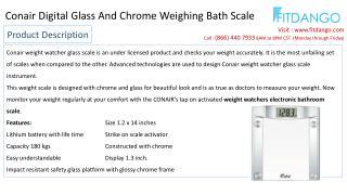 Conair Wireless Bathroom Scales