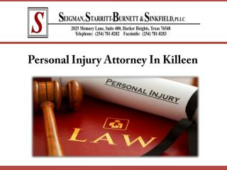 Personal Injury Attorney In Killeen