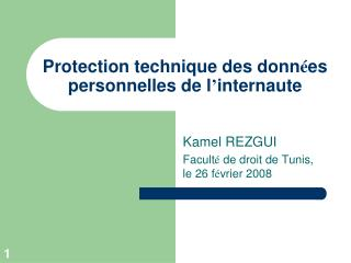 Protection technique des donn es personnelles de l internaute
