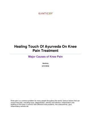 Healing Touch Of Ayurveda On Knee Pain Treatment