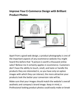 Improve Your E-Commerce Design with Brilliant Product Photos