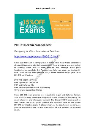 Cisco 200-310 exam practice test