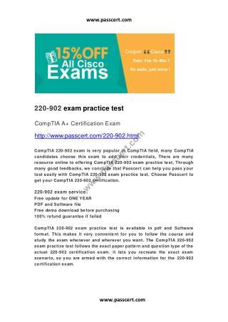 CompTIA A  220-902 practice test