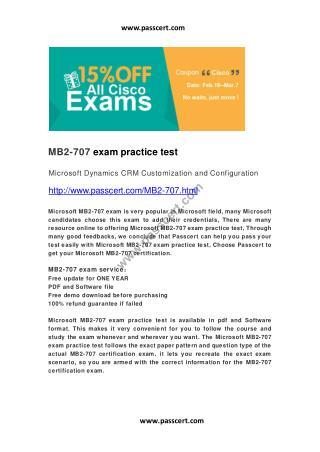 Microsoft MB2-707 exam practice test