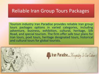 Reliable Iran Group Tours Packages