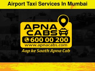 Airport Taxi Services in Mumbai