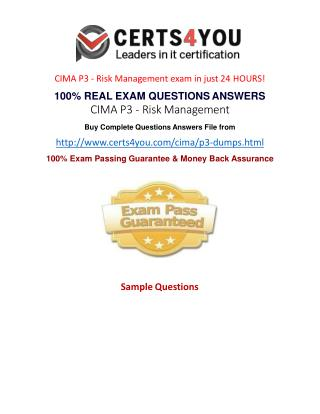 How to pass the Cima P3 exam?