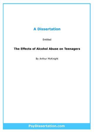 Health Psychology Dissertation Example