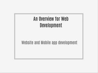 Website Development and Mobile App development company